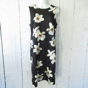 Carmen Marc Valvo Dress Floral Scuba Sheath Work